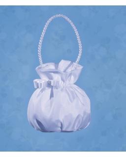 Komunijna torebka z kokardą TKC08