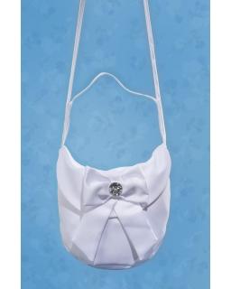 Atłasowa torebka komunijna dla dziewczynki TKC22