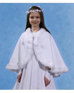 Komunijna peleryna dla dziewczynki PKC07