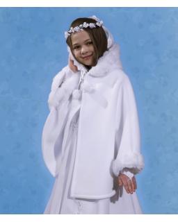 Polarowa narzutka komunijna PKC09