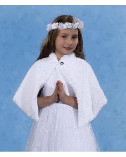 Futerkowa peleryna dla dziewczynki PKC34