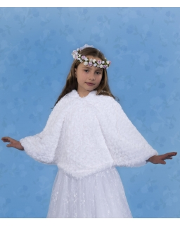 Peleryna komunijna dla dziewczynki PKC35