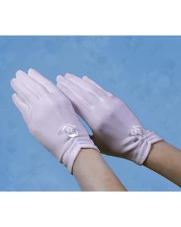 Komunijne rękawiczki z kokardką RK24