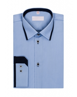 Niebieska koszula dla chłopca 122-172 KS07