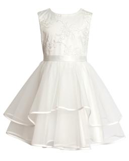 Sukienka wizytowa dla dziewczynki 134-158 3BSM ecru