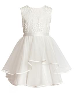 Sukienka z tiulowym dołem 104-128 3ASM ecru