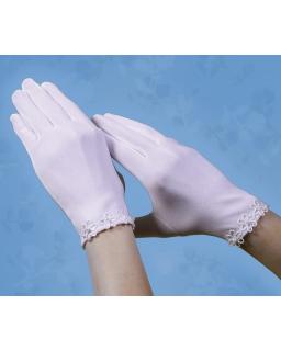 Rękawiczki komunijne z kwiatkami RK36