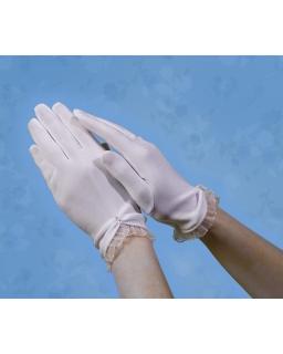 Rękawiczki komunijne z falbanką RK38