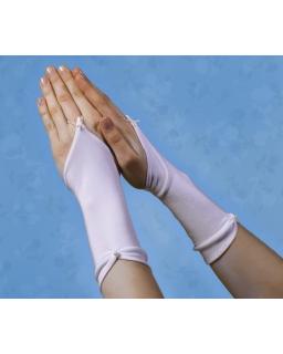 Długie rękawiczki z perełką RK48