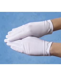 Komunijne rękawiczki z cyrkoniami RK54