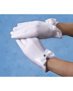 Komunijne rękawiczki z kokardą RK56