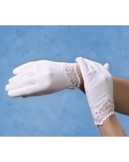 Komunijne rękawiczki z koronką RK62