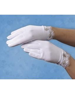 Rękawiczi komunijne z haftem RK63