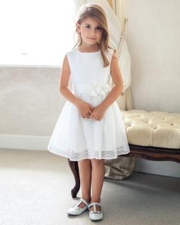 Sukienka w paski 134-158 8SM ecru