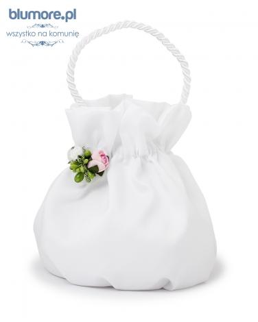 Komunijna torebka z kwiatkiem T01