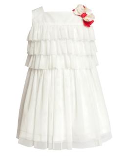 Sukienka z falbankami 104-128 17SM Ecru