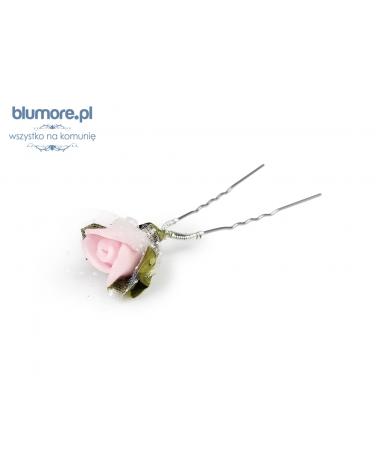 Szpilka z różą SPK02 jasny róż
