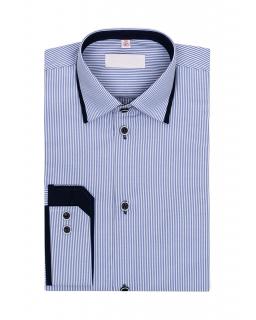 Niebieska koszula w paski dla chłopca 116-172 KS09