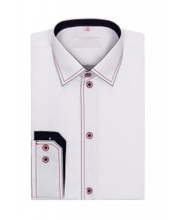 Biała koszula ze stębnówką 122-172 KS10