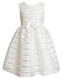 Sukienka w paski 134-158 26SM ecru