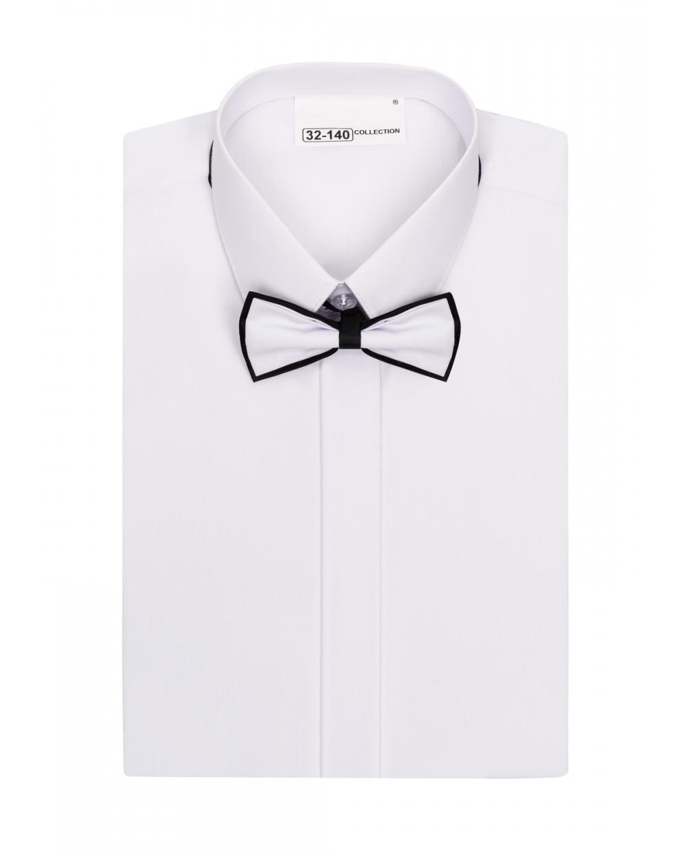 5211f7d070b45 Biała koszula komunijna z muszką dla chłopca 86-172 .