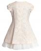 Sukienka z trapezowym dołem 122-146 15ASM Brzoskwiniowy