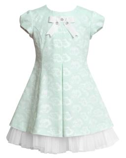 Rozkloszowana sukienka 122-146 15BSM Miętowy