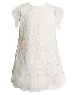 Sukienka o trapezowym fasonie 134-158 29SM Ecru