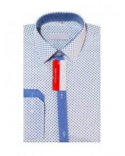 Elegancka koszula w błękitne kropki 122-172 KS08