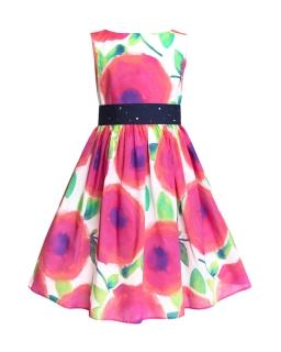 Wiosenna sukienka w kwiaty 134-158 1W