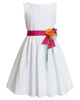 Sukienka dla dziewczynki z haftowanym wzorem 134-158 3AW
