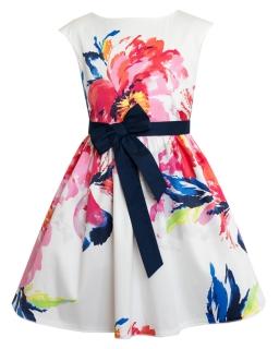 Barwna sukienka dla dziewczynki 122-146 4W Multikolor