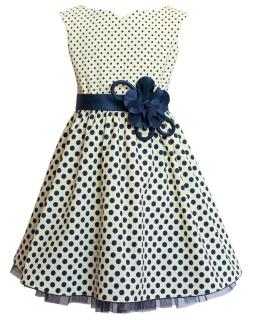 Sukienka z paskiem 122-146 9AW Żółty plus granat
