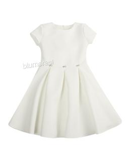 Sukienka z kontrafałdami 128-158 Diana ecru