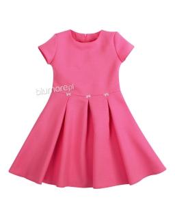 Sukienka z drobnymi kokardkami 128-158 Diana fuksja