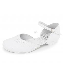 Białe buty komunijne dla dziewczynki 33-38 Elza biel