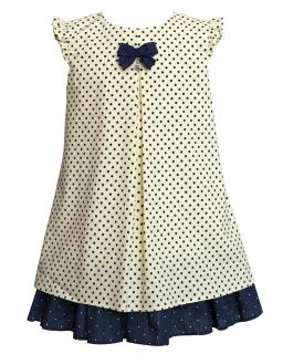Trapezowa sukienka w groszki 104-128 10AW Żółty