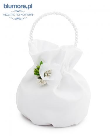 Torebka komunijna z kwiatem T07