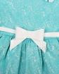 Sukienka z białym paskiem 104-140 Mia błękit