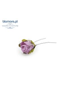 Szpilka z różą SPK03 fiolet