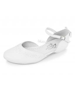 Białe buty na obcasie dla dziewczynki 33-38 Gosia biel