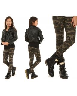 Dziewczęce legginsy w stylu militarnym 116-158 WZ05