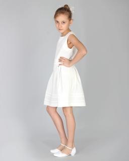 ca049a6965 Jasna sukienka dla dziewczynki 110-152 Wiki ecru
