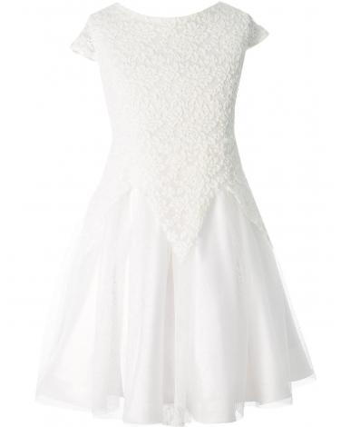 Wytworna sukienka 134-158 Jessica ecru