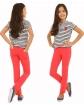 Elastyczne spodnie rurki 116 - 158 KRP11 Cztery kolory
