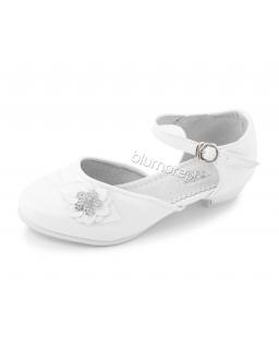 Buty do komunii z kwiatem 31-36 BK15 białe