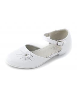 Buty dla dziewczynki do komunii 31-36 BK16 białe