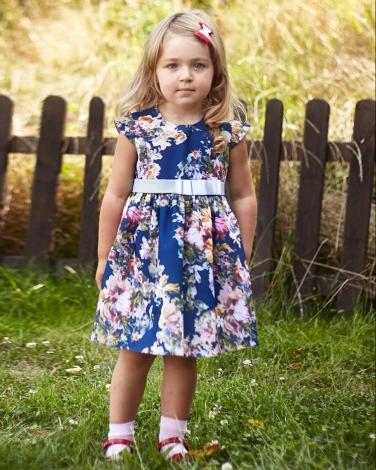 Wyjątkowa sukienka Kamila 86-116 W kwiaty