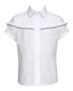 Biała bluzeczka z falbanką 116-140 110/S biel