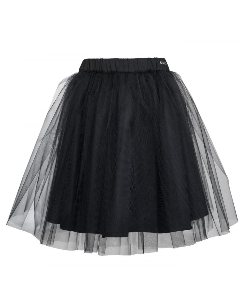 a0e0a9d69bf3 Dłuższa spódnica tiulowa 128-164 306 S czarna